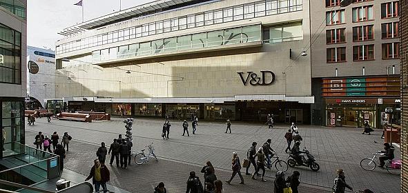 Voormalig V&D pand gezien vanaf de Grote Marktstraat