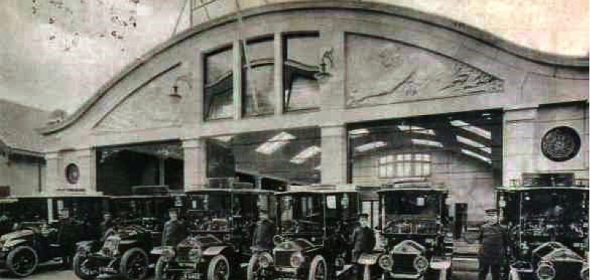 Autopalace de Wit 1912 in Art-nouveaustijl