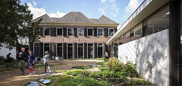 Tuin Musea Zutphen met nieuw entreepaviljoen, foto Joep Jacobs