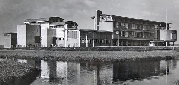 Het NLR - toen nog Nationaal Luchtvaart Laboratorium - in haar oorspronkelijke context in 1939.