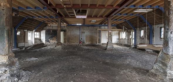 Oorspronkelijke situatie Omke Jan met later toegevoegde vloer | foto: Thomas Mayer