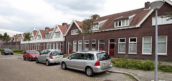 Straatbeeld voor renovatie Hulstlaan
