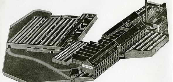 Oude situatie Thomas de Beer-fabriek (wolspinnerij)