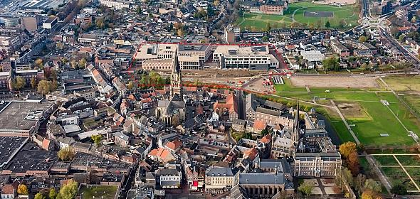 Overzichtsfoto gerealiseerde nieuwbouw en openbare ruimte Ligne 2016.