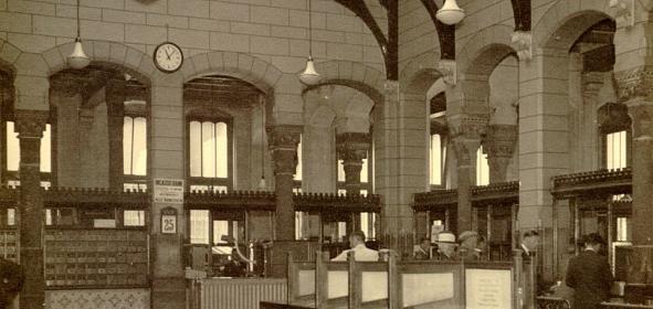 begane grond: in gebruik als postkantoor anno 1939