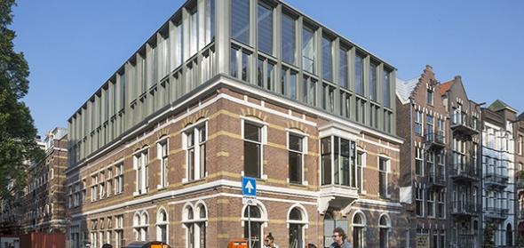 Nieuwe situatie gezien vanaf de Amstel. Foto Luuk Kramer