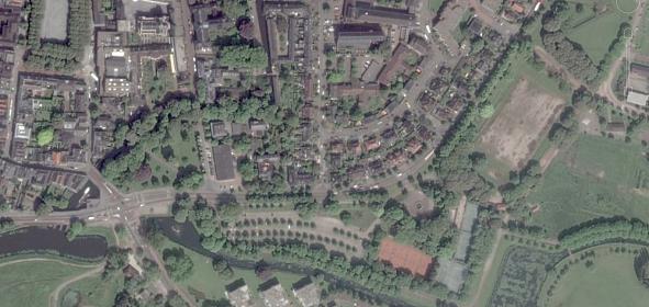 Luchtfoto oorspronkelijke situatie