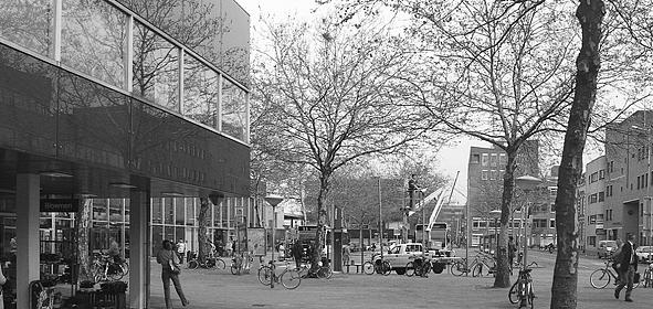 Het stationsgebied omstreeks 2004.