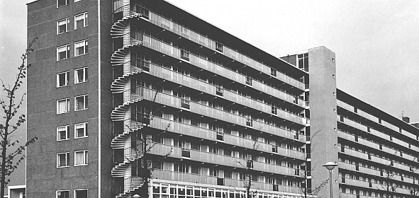 Historische opname van het complex