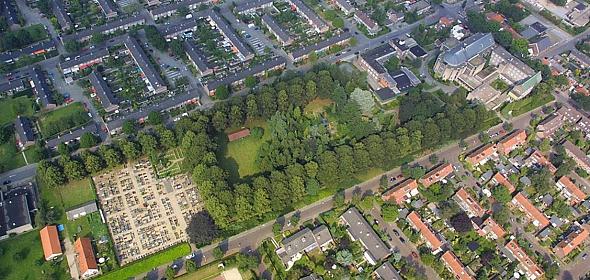 luchtfoto van de oorspronkelijke situatie
