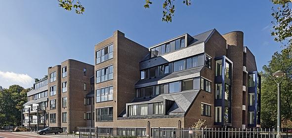 Van Grobbendoncklaan Den Bosch, woongebouw De Donck, na transformatie in gebruik als woongebouw